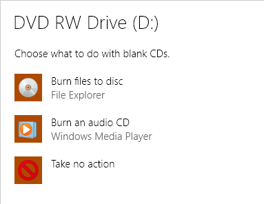 blank disc options